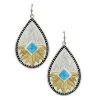 Montana Silversmith Feathered Desert Flower Turquoise Earrings ER3445YG