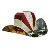 American Flag Box Hat Flagboxhat