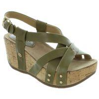 Bussola Moss Old Luggage Frida Womens Strappy Wedge Sandals FRIDA-MOSS