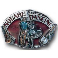 G30E Square Dancing Hand Enameled Siskiyou Belt Buckles