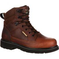 GB00033 Brown 6inch Waterproof Steel Shank Georgia Mens Work Boots