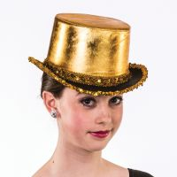 H-109 Lame Top hat with Trim