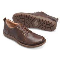 Born Brown Nigel Tie Mens Comfort Lace Up Shoes H50506