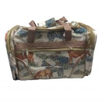 T221D#H2 21-inch Horse Print Duffel bag