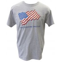 FLAGTEE-M Mens ONE COUNTRY. ONE FLAG. Tee Shirt