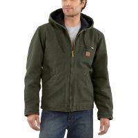 J141 Moss Sandstone Sierra Jacket/Sherpa Lined Carhartt Mens Coats