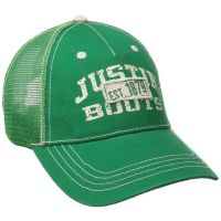 JSM104 Green Justin Boots Mens Mesh Back Ball Cap