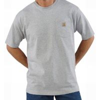 K87HGY Heather Grey Workwear Pocket T-Shirt Carhartt Mens Shirts