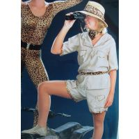 1019  Safari Jazz DANCE RECITAL COSTUME ADULT
