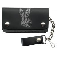 LW-9 Leather Biker with Eagle Wallet