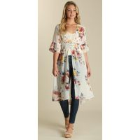 Wrangler Floral Multi Open Front Womens Duster LW1891M