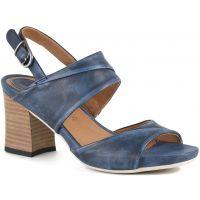 Bussola Indigo MARI Womens Leather Comfort Heels MARI-INDIGO