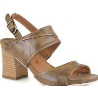 Bussola Taupe MARI Womens Leather Comfort Heels MARI-TAUPE
