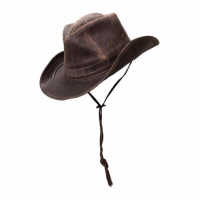 Dorfman Pacific Outdoor Weathered Outback Brn Hat MC127-BRN