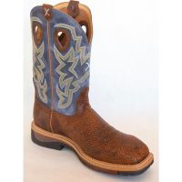 MLCW016 Peanut Color Twisted X Navy Lite Cowboy Mens Work Boot