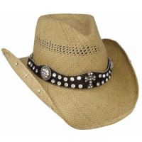 2644 More Than Words Genuine Panama Straw Bullhide Womens Cowboy Hats