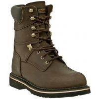 MR88144 Dark Brown Lace-Up 8inch Soft Toe Dan Post Mens Work Boots
