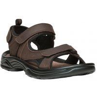 Propet Daytona Brown Leather Mens Sandals MSV013L-BRN