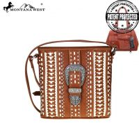 Montana West Buckle Collection Concealed Handgun Crossbody Bag MW536G-8287