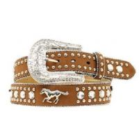 N4427644 Girl's Crystal Running  Horse Western Nocona Belt