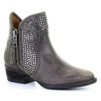 Corral Black Studded Shortie Ankle Womens Boot Q0124