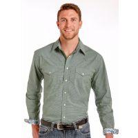 Panhandle Slim Kenmore Dobby Check Mens Long Sleeve Snap Western Shirt