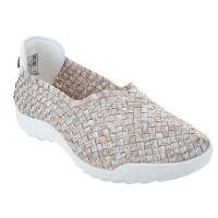 Bernie Mev Sand Basket Weave Womens Slip On Comfort Shoes RIGGEDFLY