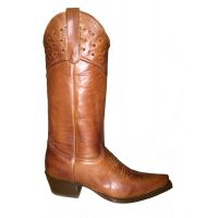 SF-HANDRANCH-L Tan Snip Toe with Top Lace Ladies Boot