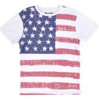 SGR1526-A927  American Flag USA Faded Authentic Fashion Mens Top