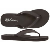 SKB16-001 SKINNY BOUNCE Black Cushion Flip-Flop Cobian Womens Sandals