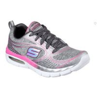 Skechers Appeal Casmic Crush Silver/Pink Fabric Kids Running 81712L-CCHP
