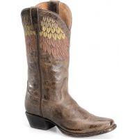 SN1093 Maya Chocolate Womens Sonora Western Boots