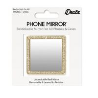 IDecoz Gold Square with Crystals Phone Mirror SQ724M