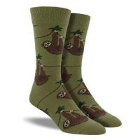 SockSmith Green Men's Sloth Socks SSM1372