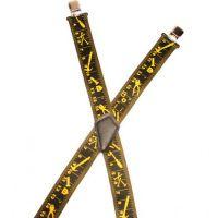 UA450NTMYE Suspender Factory Classic Ruler Suspenders Made in USA