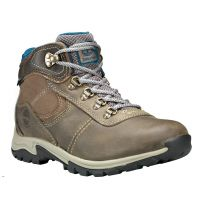 Timberland Grey Full-Grain Mt. Maddsen Mid Waterproof Hiking Womens Boots TB0A1NRW110