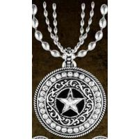 TBNC1002 CZ Star Concho Western Wedge By Taylor Brands Necklaces