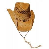 Dorfman Pacific Raffia Western Straw Hat TMMR34OS