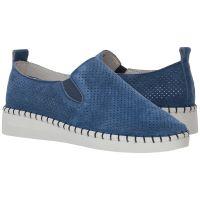 Bernie Mev Blue Womens Slip-On Sneaker TW98