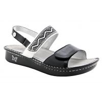 Alegria Verona Black Womens Sling Back Sandals VER-621