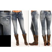 Rock and Roll Cowgirl Low Rise Skinny Womens Jeans W0S3390