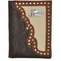 Justin Brown Western Trifold Wallet WJS194