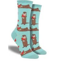 SockSmith Blue Womens Ottermelon Socks WNC1766