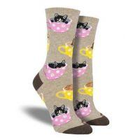 SockSmith Hemp Heather Womens Cat-Feinated Socks WNC1771