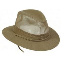 Y1022 Khaki Cotton Outback Safari Crushable Vented Hats