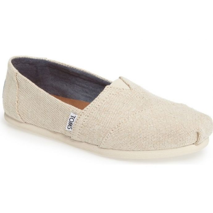 size 40 abada 652fa 10009756 Natural Linen Alpargata Slip On Classic Womens Toms Shoes