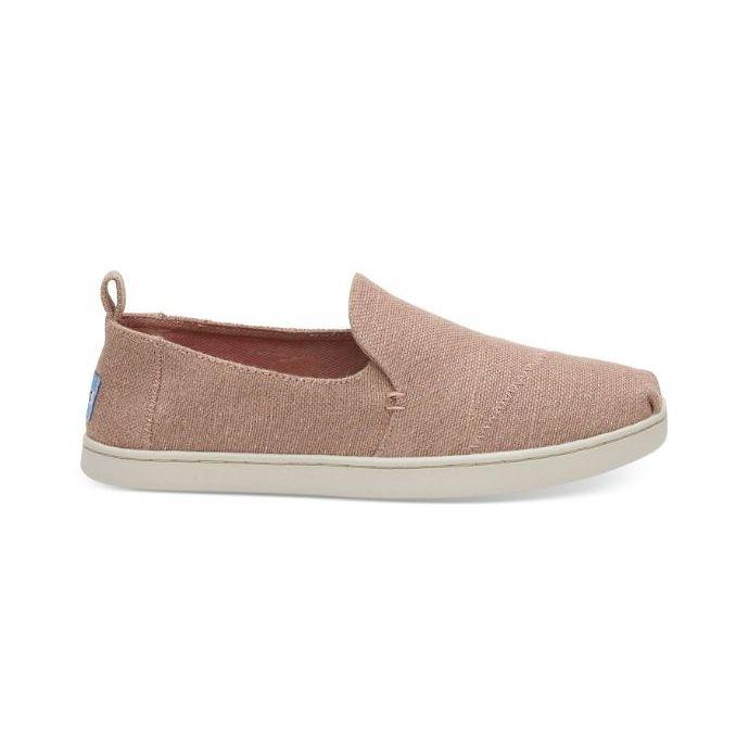 presenting order online pretty cool Toms Bloom Metallic Jute Womens Deconstructed Alpargatas Slip On Shoes