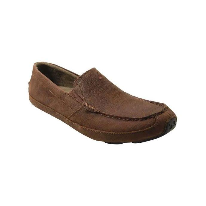 Olukai Akepa Moc Slip On Rum Leather Mens Casual 10169 SKSK