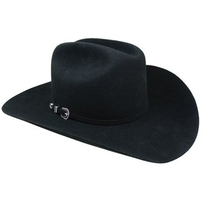 City Limits Black 4x Beaver Felt Resistol Mens Western Cowboy Hats