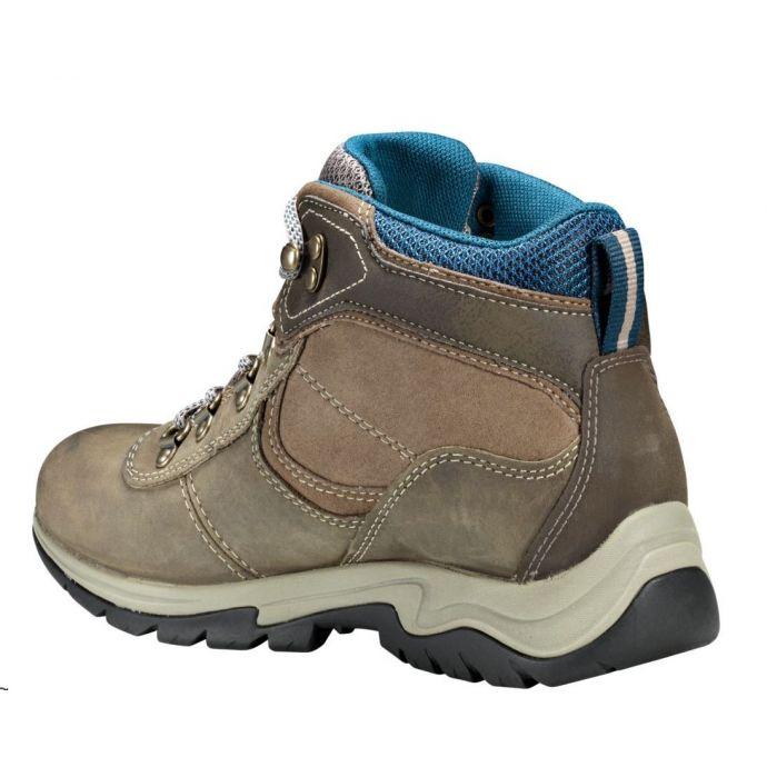 Timberland Grey Full Grain Mt. Maddsen Mid Waterproof Hiking Womens Boots TB0A1NRW110